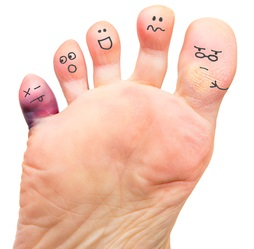 Happy feet after diabetic foot care regimens