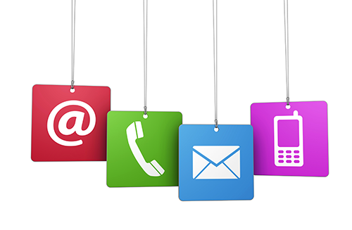 Contact us | by e-mail, phone or mail